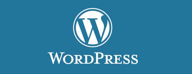 WordPress website header - WP logo